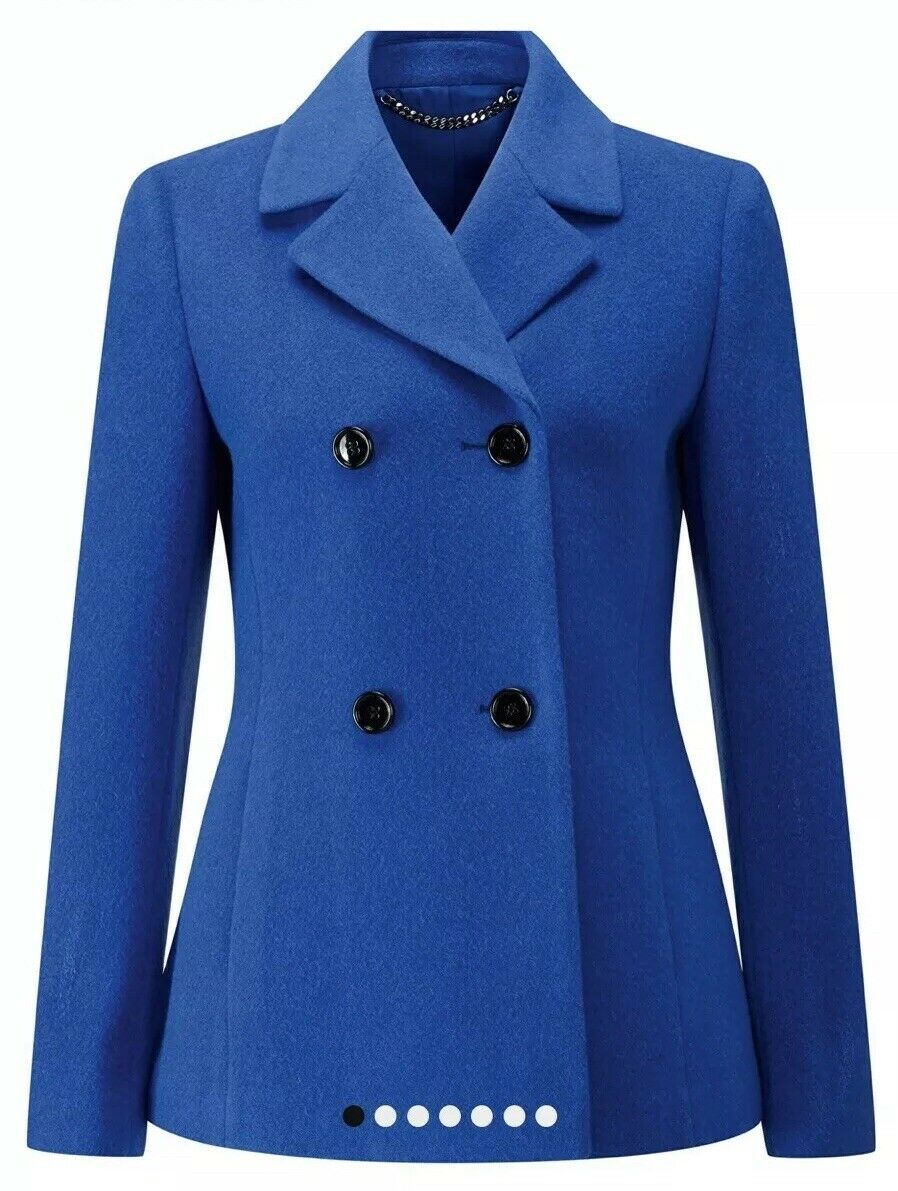 CL13Pure Collection Womens Wool Peacoat Vivid Sapphire SIZE