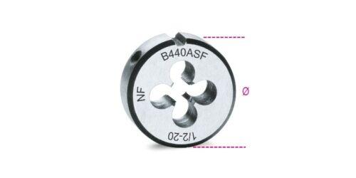 "Beta Tools 440ASF Chrome-Steel Fine Pitch Round UNF Thread Die 1//4/"" x 28"