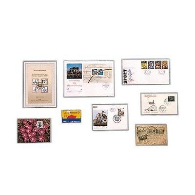Offizielle Website Safe 9270 50 Klarsichthüllen Offene Schmalseite 195x135 Klebefälze & Klebestreifen