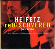 Jascha HEIFETZ REDISCOVERED GRIEG Sonata No.3 BRAHMS No.1 BACH RAMEAU SARASATE