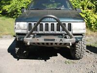 1993-98 Jeep Grand Cherokee Zj Shorty Winch Stinger Front Bumper