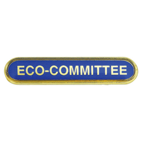 Blue Yellow Green Eco Committee Bar School Badges Red Orange