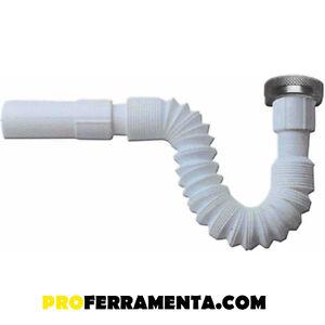 Tubo Scarico Lavandino Flessibile.Canotto Tubo Scarico Flessibile Estensibile X Sifone Lavello Lavabo