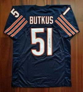 buy online c4684 3ee6e Details about Dick Butkus NFL 51 Jersey Autographed Authentic COA Hall of  Fame Chicago Bears