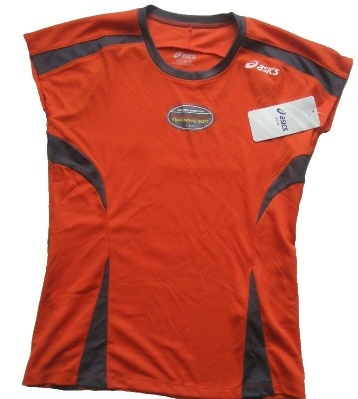 ASICS Damen Shirt - Trikot Gr. S Rot-Schwarz