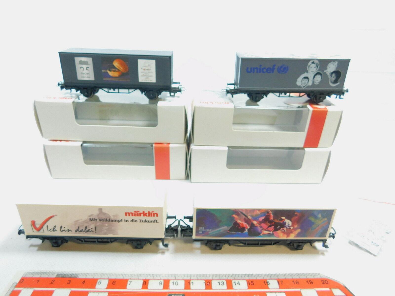 AW785-1x Märklin H0 AC AC AC Containerwagen  44150+44261+44263+44265, NEUW+OVP 8f2033
