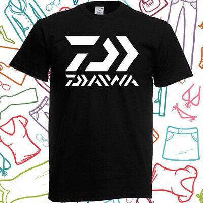 Daiwa Fishing Logo Men/'s Long Sleeve Black T-Shirt Size S to 3XL