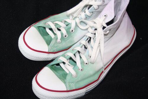 Dye top viola con Hi ~ Sz verde personalizzate converse e 10 Tie Ombre v400qBwx