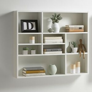 andreas wall mounted shelving unit in white ebay. Black Bedroom Furniture Sets. Home Design Ideas