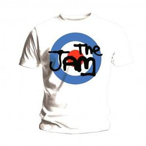 The-Jam-T-Shirt-Spray-Logo-Official-Mens-White-Tee-NEW-Mod-Classic-Rock-Unisex