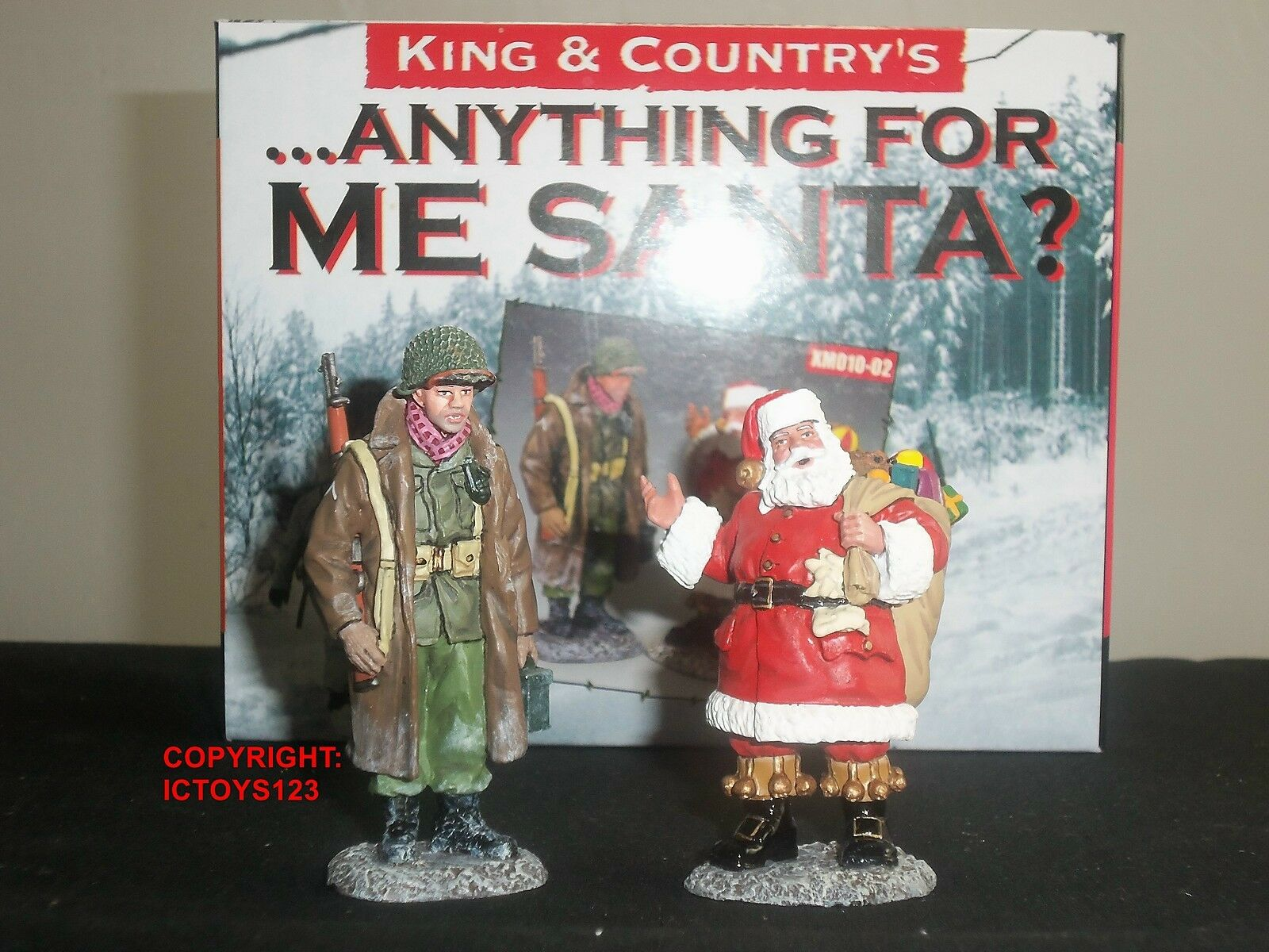 KING AND COUNTRY XM10-02 XMAS SPECIAL ANYTHING FOR ME SANTA METAL FIGURE SET
