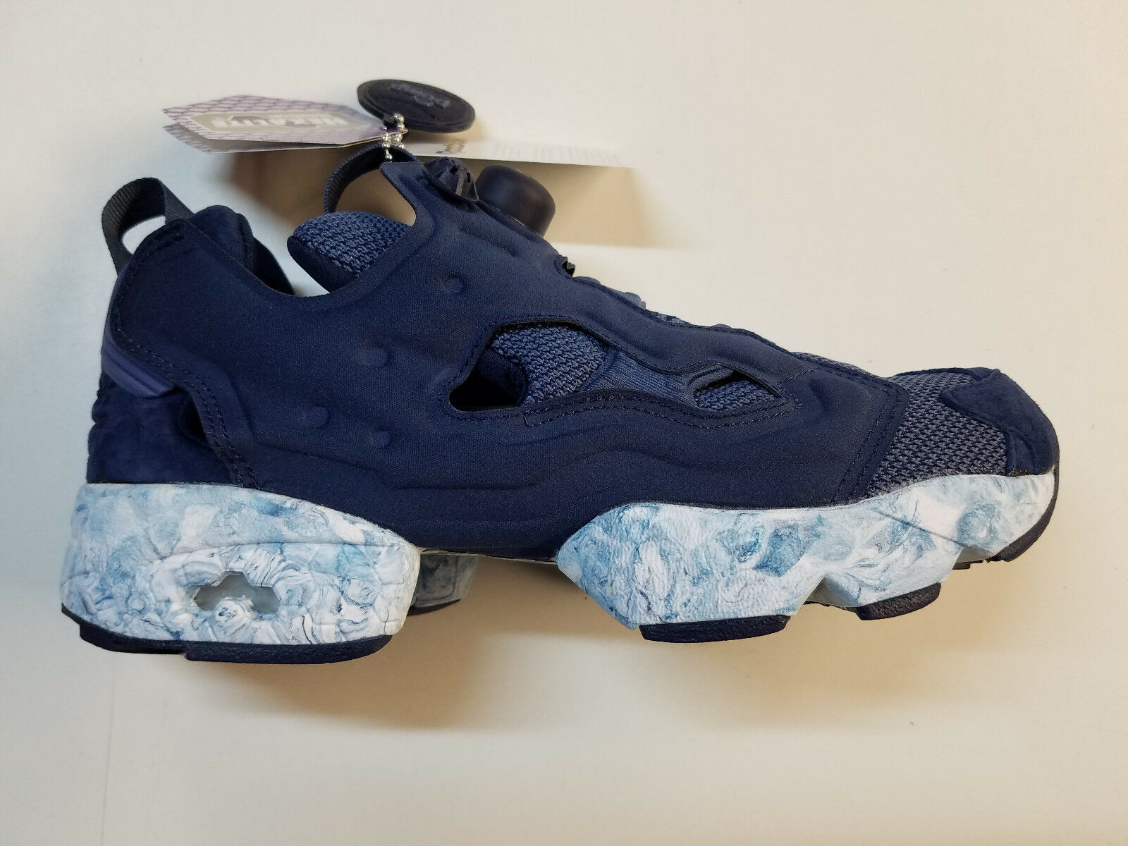 Reebok Instapump Fury Achm Navy Marble White Retro Mens Sneakers BD1551 1801-10