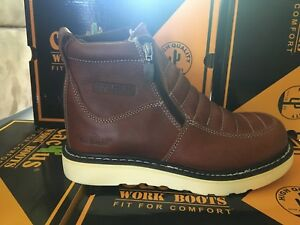 3eb352f2470 Details about CACTUS Work Boots # 6062M Brown Zipper NO Steel toe For Men's  Size 5 to 13