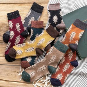 Trendy-Pattern-Trees-Lady-Wool-Socks-Thick-Warm-Autumn-Winter-Cotton-Boots
