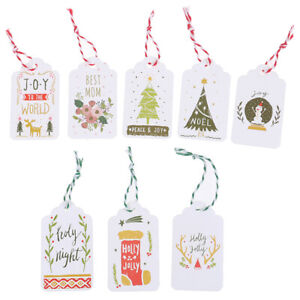 100PCS//set Merry Christmas Paper Tags DIY Craft Label For Christmas Party Tag~JP