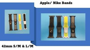 OEM Apple/Nike Sport Bands Used 42mm S/M & L/M Various Colors