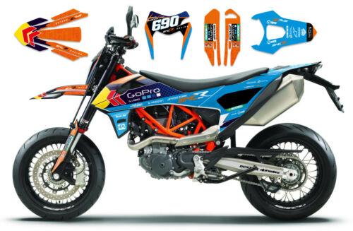 Race-Styles Décor Compatible Avec KTM SMCR Enduro 690 2019-20 Autocollant Graphics