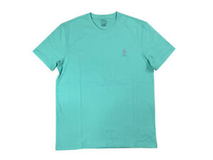Ralph-Lauren-Polo-Mens-Classic-Crew-Neck-Pony-Logo-Cotton-Shirt-Teal-Green-new