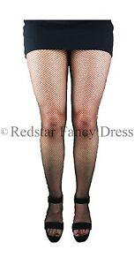 Collant nero rete XL Taglie Forti Costume Accessorio Da Donna Costume Hoisery