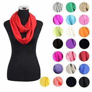 LOT-OF-NEW-WOMEN-HIGH-QUALITY-SOLID-CASHMERE-INFINITY-COWL-SCARF