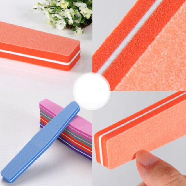 1Pcs Polisher Buffer Sponge Sanding Buffing File Nail Art DIY Grit JR
