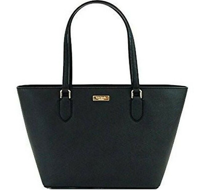 New Kate Spade New York small Dally Laurel Way Crossgrain Leather Tote Black