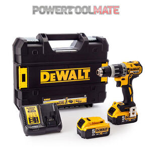 Dewalt-DCD796P2-18v-Li-Ion-XR-Brushless-Compact-Combi-Drill-2x-5-0Ah-Batteries