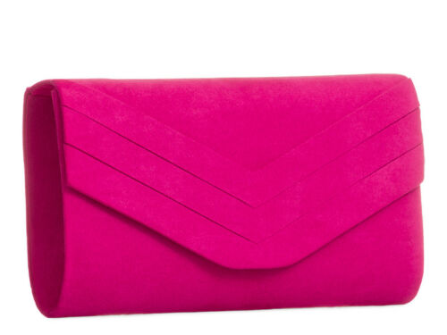 Ladies Pleated Suede Clutch Bag Girls Prom Evening Bag Party Handbag Purse KL809