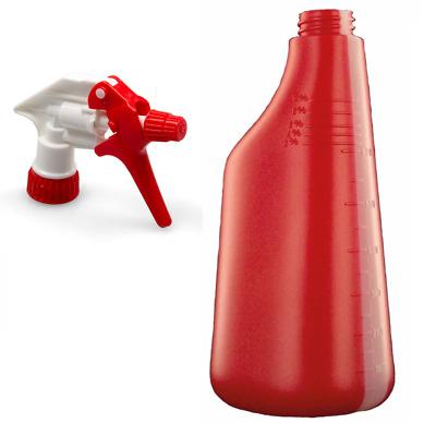 DW Sprühkopf Blau Zerstäuber für Sprühflasche Leerflasche Nachfüllflasche 25 cm