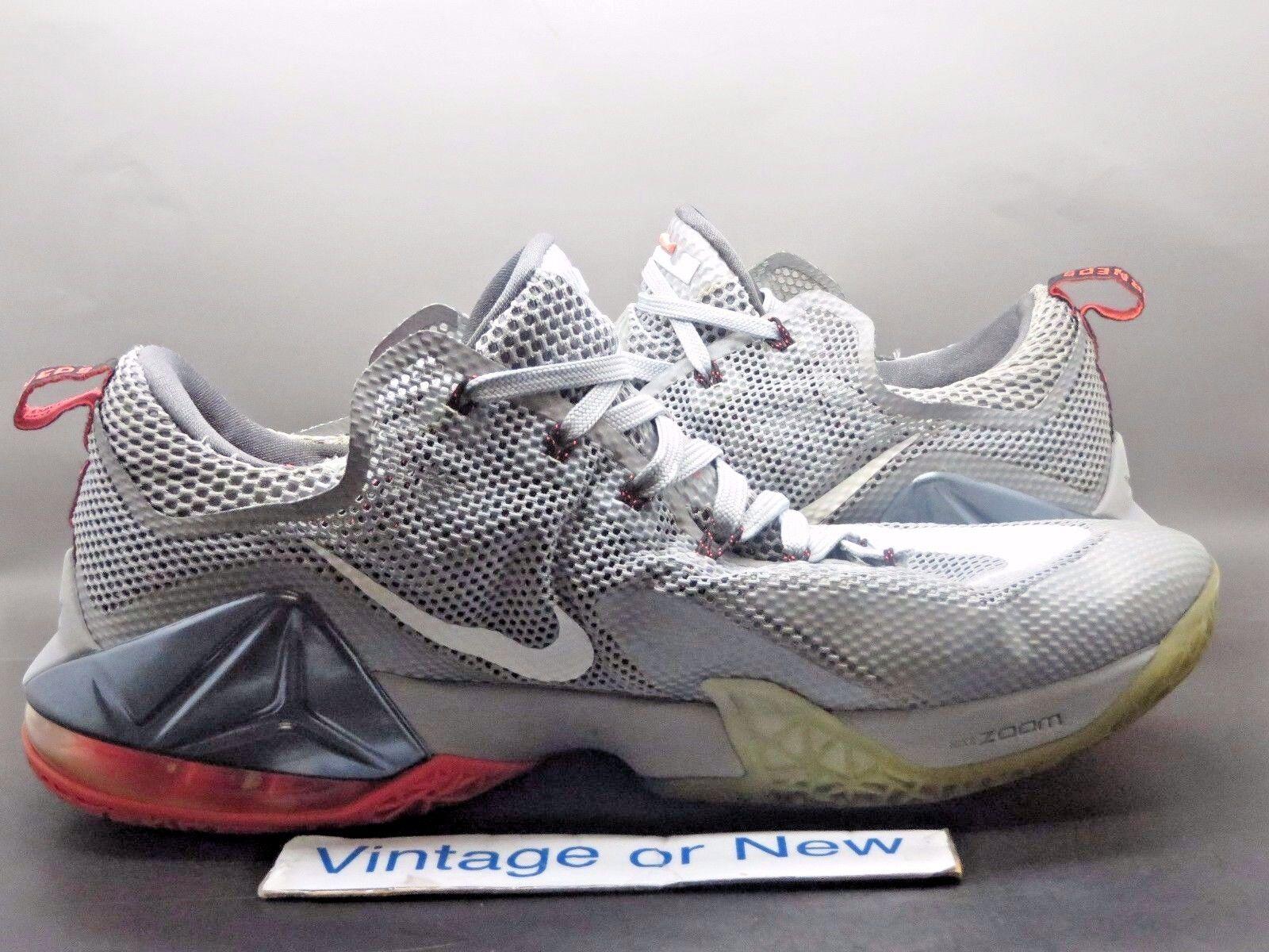 online store 5c8f9 1f3cc ... Nike LeBron LeBron LeBron XII 12 Low Wolf Grey White Hot Lava sz 13  c675d1 ...