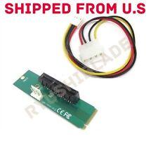 High speed PCI-e 1X/4X Card to NGFF M.2 M Key PCIe Slot Converter Card Adapter