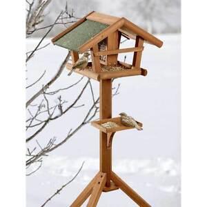 BIRDS-WORLD-WILD-Vogelhaus-Runa-46x30x121cm-Futterhaus-Winterfutter-Meisen-Amsel