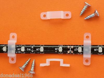 Soft Silicon LED Strip Fixing Clip + Screws 3528 5050 Flexible Strip 10mm Max