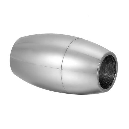 1 Silberfarbe Edelstahl Magnetverschluss Fass Kettenverschluß 19mmx11mm L//P