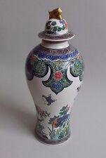 Desvres. Gabriel Fourmaintraux. Vase en porcelaine goût de la Chine, deb XXe