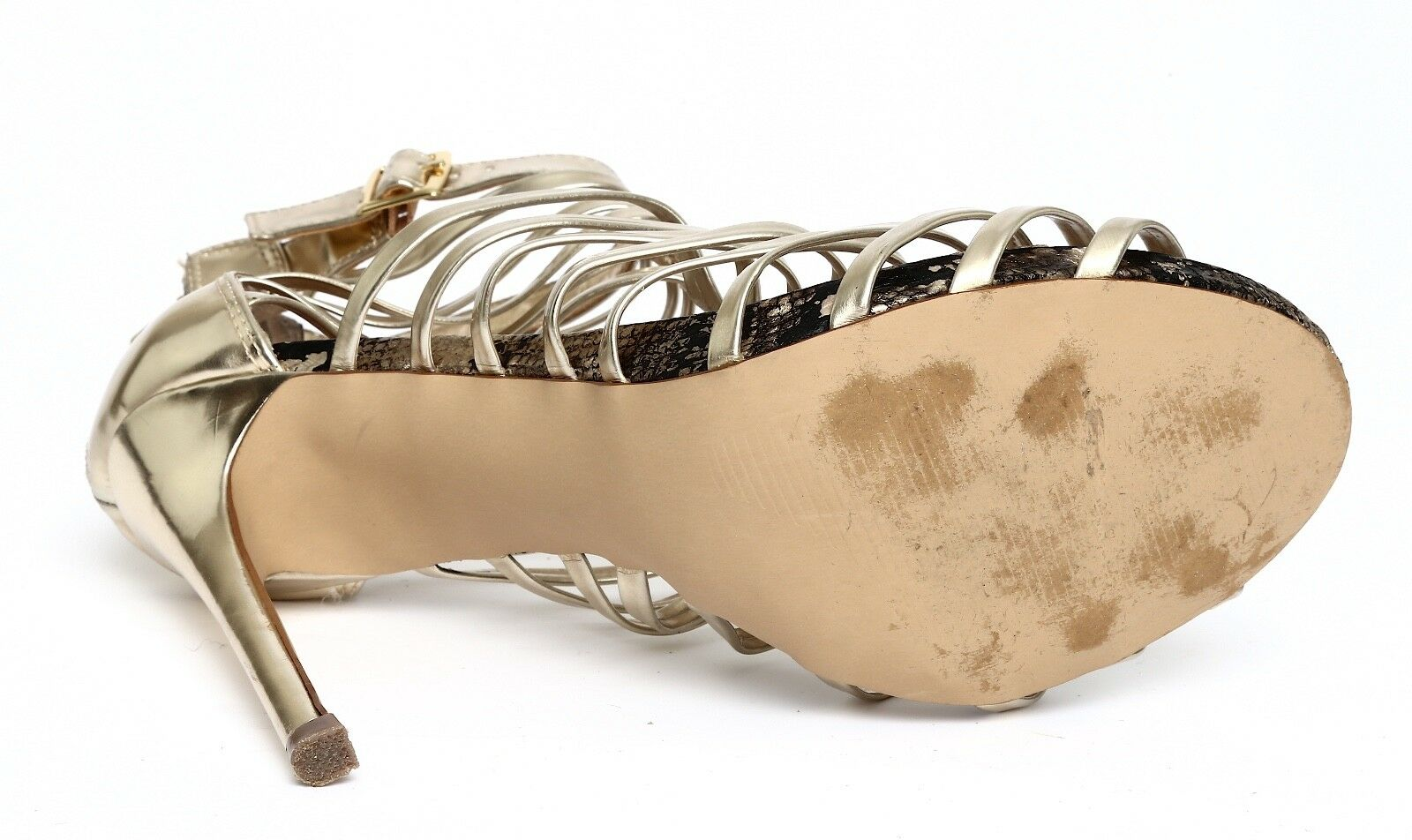 Steve Madden Marinee Gold Metallic damen Platform Sandal Heels Heels Heels Sz 7.5M 3268 4cf3f2