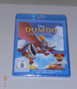 Blu-Ray-Walt-Disney-Dumbo-Special-Edition-zum-70-Jubilaeum-Neu-in-Folie