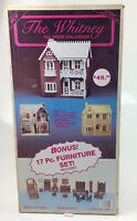 Radmark the Whitney All Wood Doll House Kit + 17 Pc Furniture Set 51501