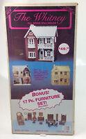 Radmark the Whitney All Wood Doll House Kit + 17 Pc Furniture Set 51501
