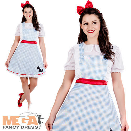 Dorothy Ladies Fancy Dress World Book Day Character Womens Adults Costume Outfit