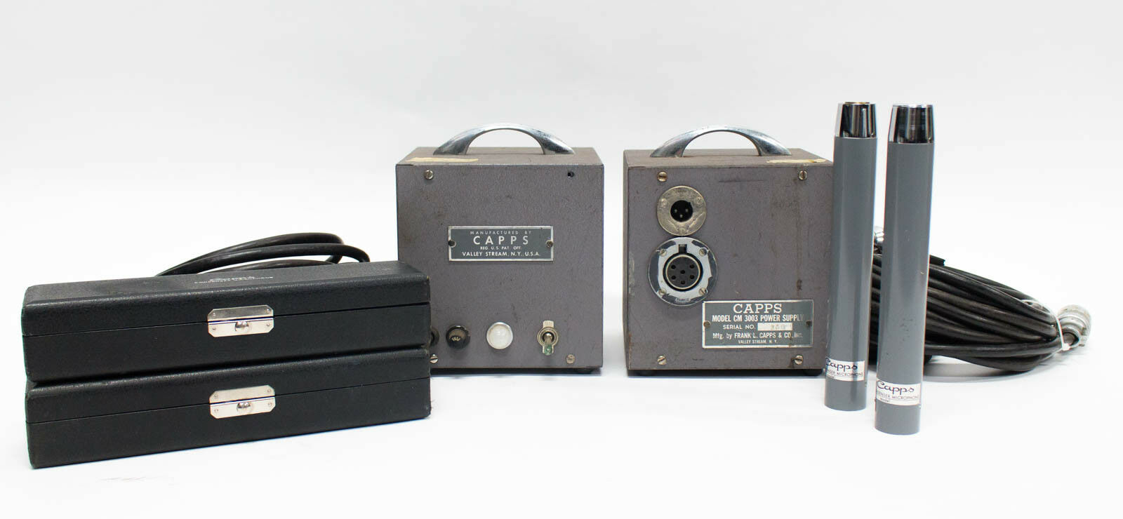 Capps CM2250C Omni Tube Condenser Mic w  CM3003 Power Supply Stereo Pair