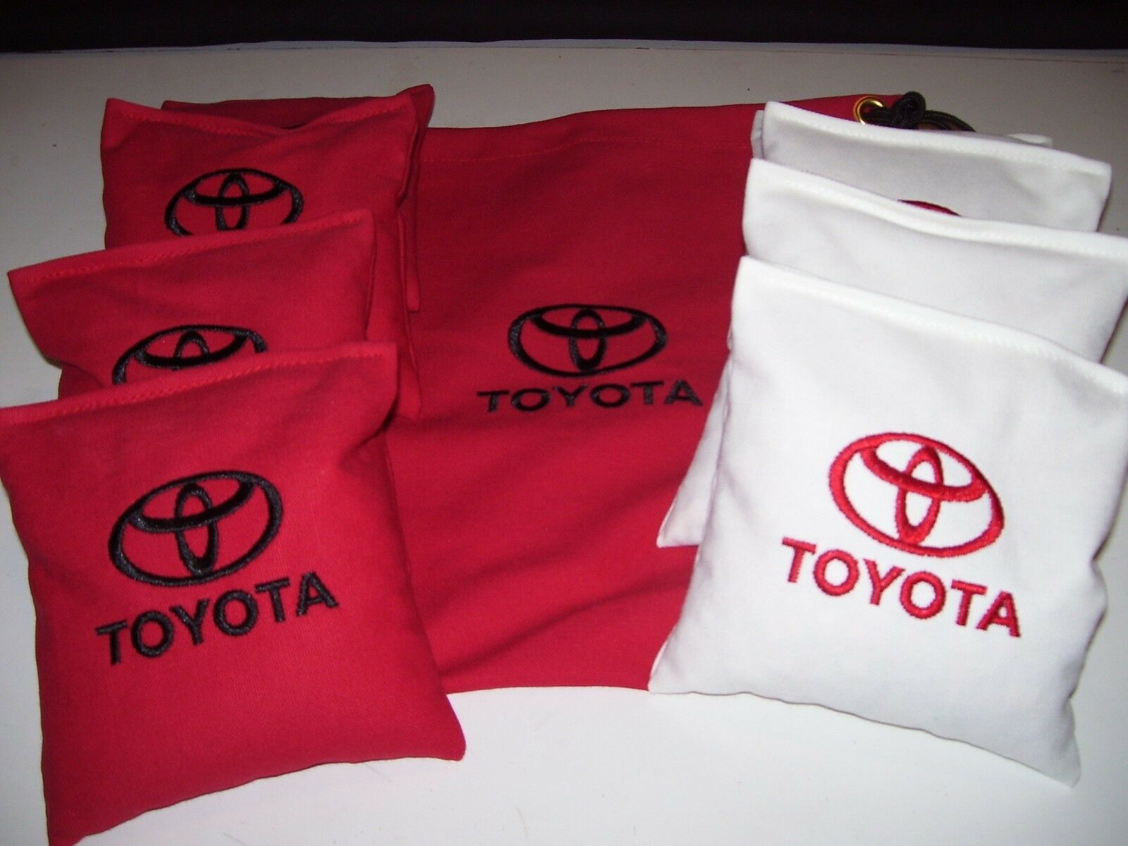 Toyota New Embroidered Cornhole Corn Hole Set of 8  Bags W Storage Bag  online fashion shopping