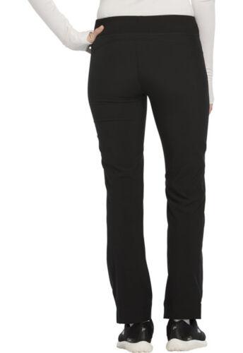 Black Cherokee Scrubs Infinity Mid Rise Tapered Leg Drawstring Pants CK100A BAPS