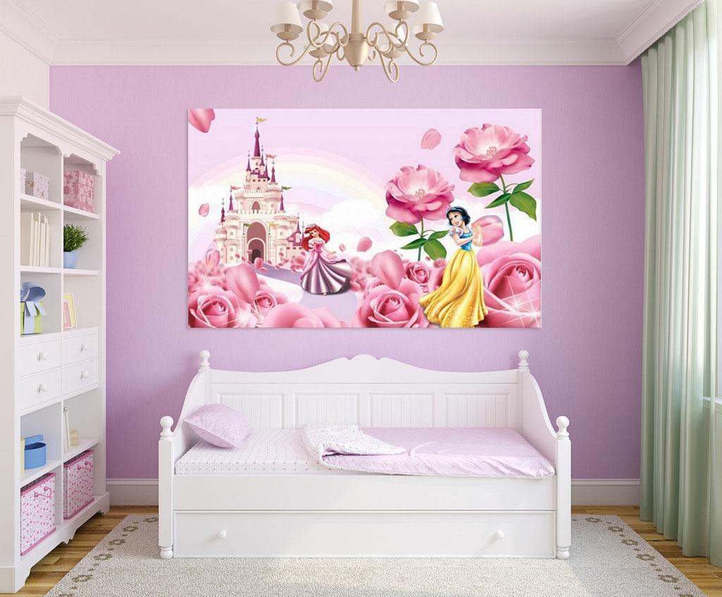 3D Mädchen Schloss 745 Fototapeten Wandbild BildTapete Familie AJSTORE DE