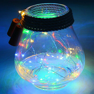1-2M 10-20 LED Cork Shape String Fairy Night Light Wine Bottle Lamp Batter Solar