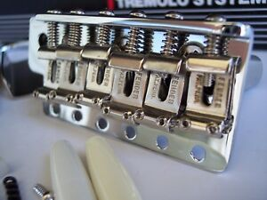 Details about PURE VINTAGE FENDER CUSTOM SHOP STRAT USA TREMOLO BRIDGE PAT  PEND SADDLES '62 57