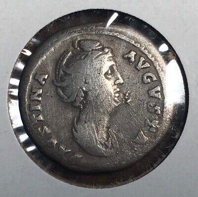 Ancient Roman Silver Coin, Denarius Of Faustina Augusta