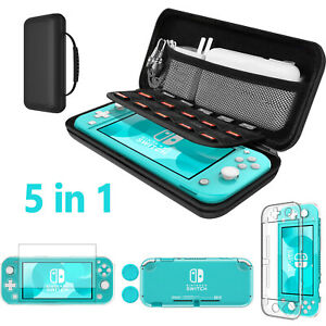 For Nintendo Switch Lite Accessories With Hard Storage Bag+Case+Glass Protector