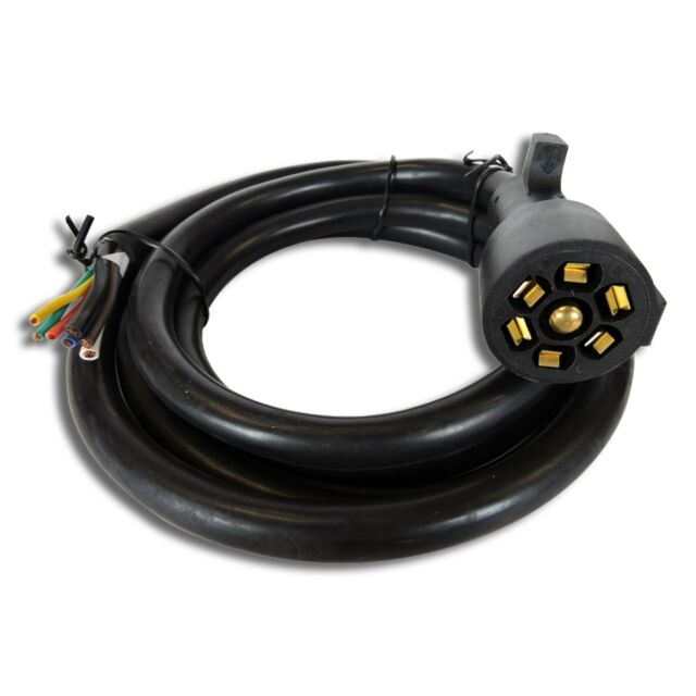 Leisure Cord RV Standard Universal 7-way Trailer Wiring Harness 8 FT on