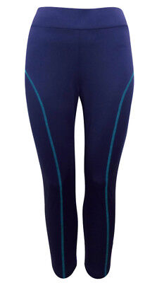 2019 Neuer Stil Evans Ladies Plus Size Navy Sport Cropped Yoga Gym Leggings SchöNe Lustre